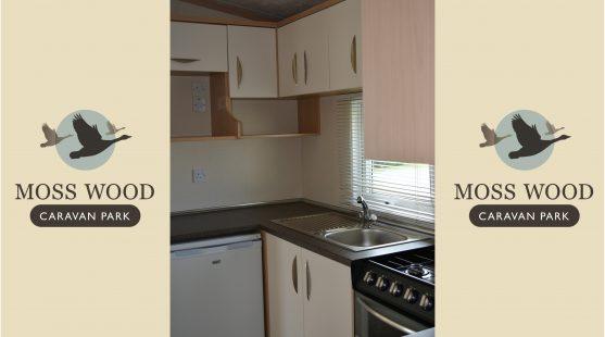 Kitchen of Pemberton Elite Caravan at Moss Wood Caravan Park