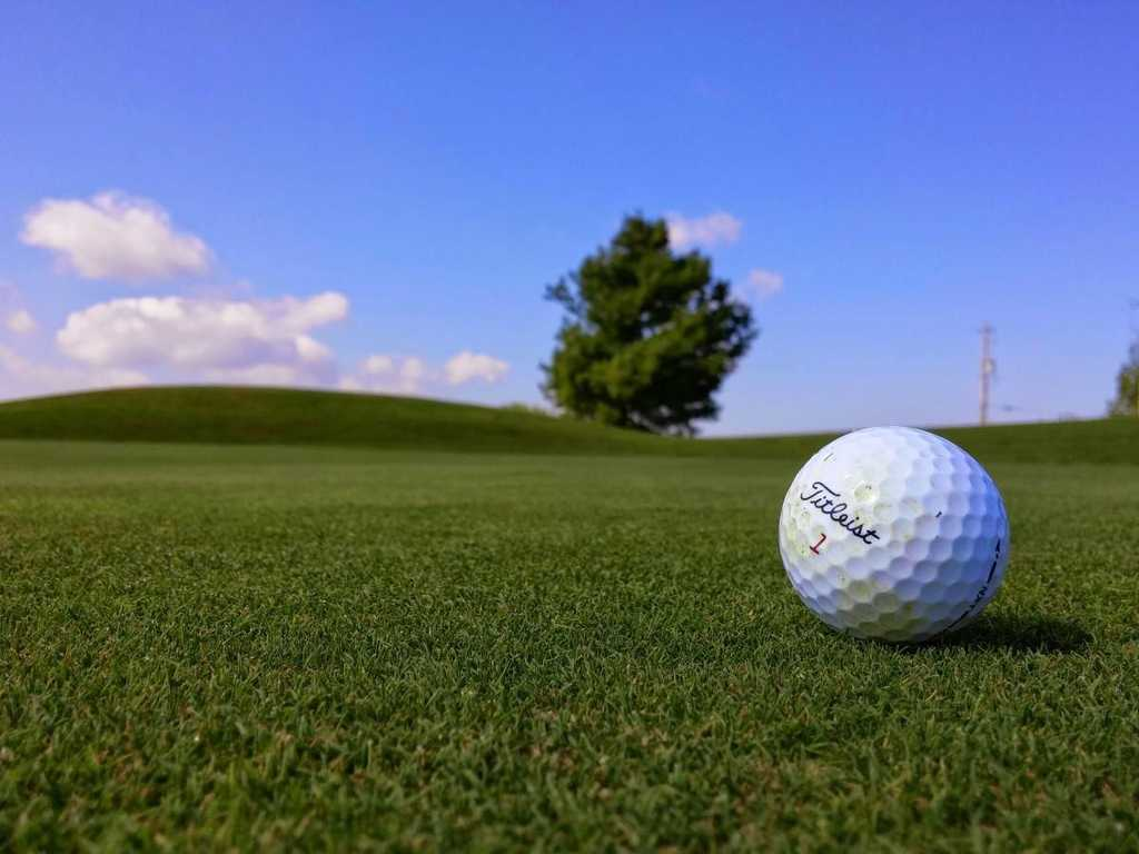 Golf ball on green – Lancashire golf courses