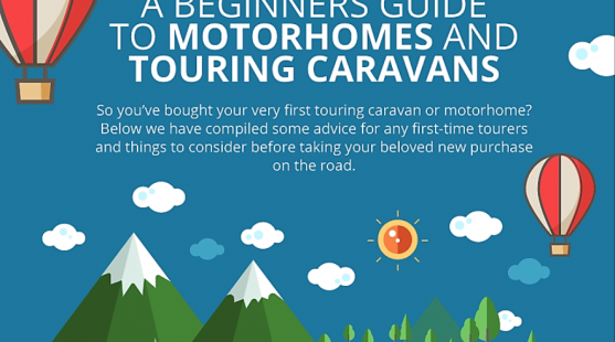 A beginners guide to motorhomes and touring caravans infographic