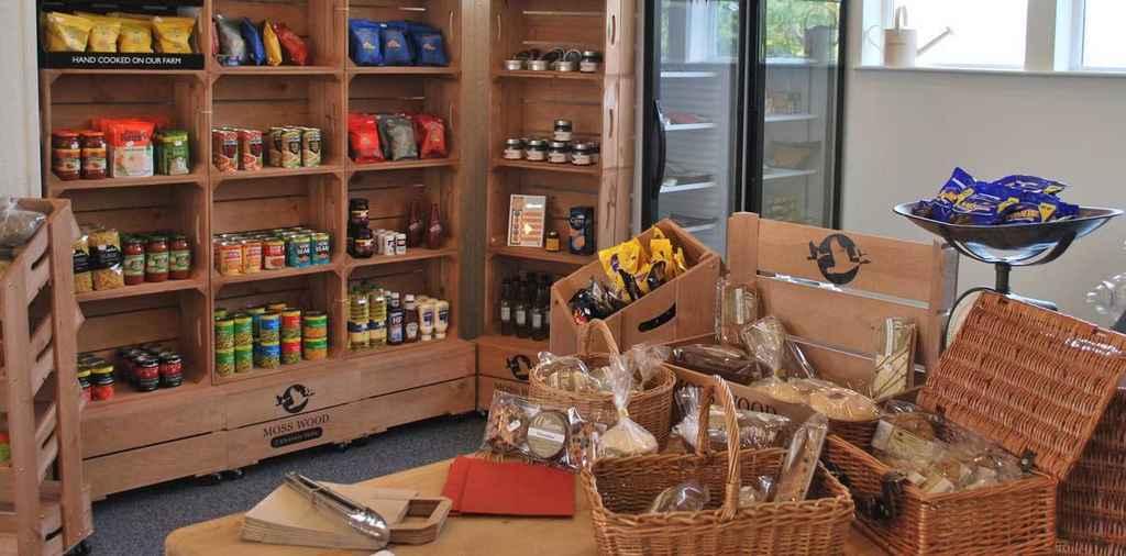 Moss Wood Shop Table