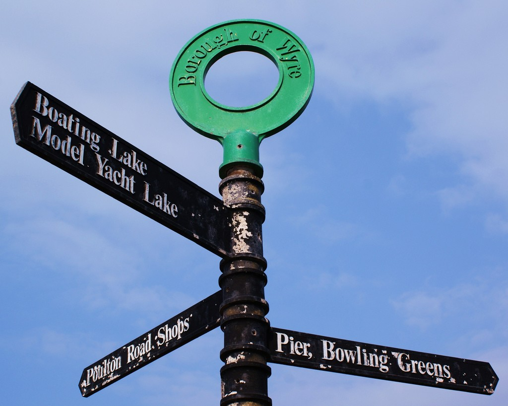 Borough of Wyre sign in Lancashire