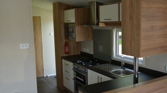 Kitchen of Willerby Granada 2017 Caravan at Moss Wood Caravan Park
