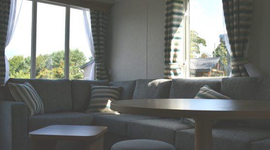 Living area of Willerby Granada at Moss Wood Caravan Park