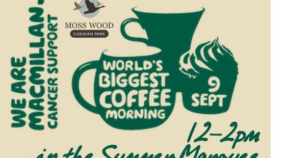 Moss Wood Macmillan Coffee Morning Sept 2017