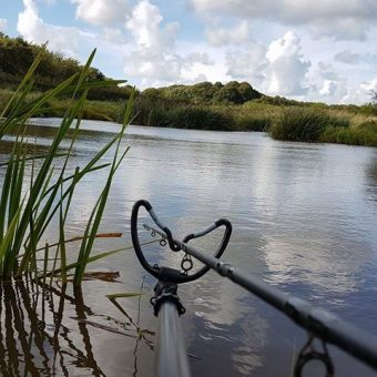 Fishing on the Moss Wood Caravan Park lake in Lancashire
