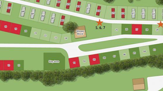 Bird box locations at Moss Wood Caravan Park