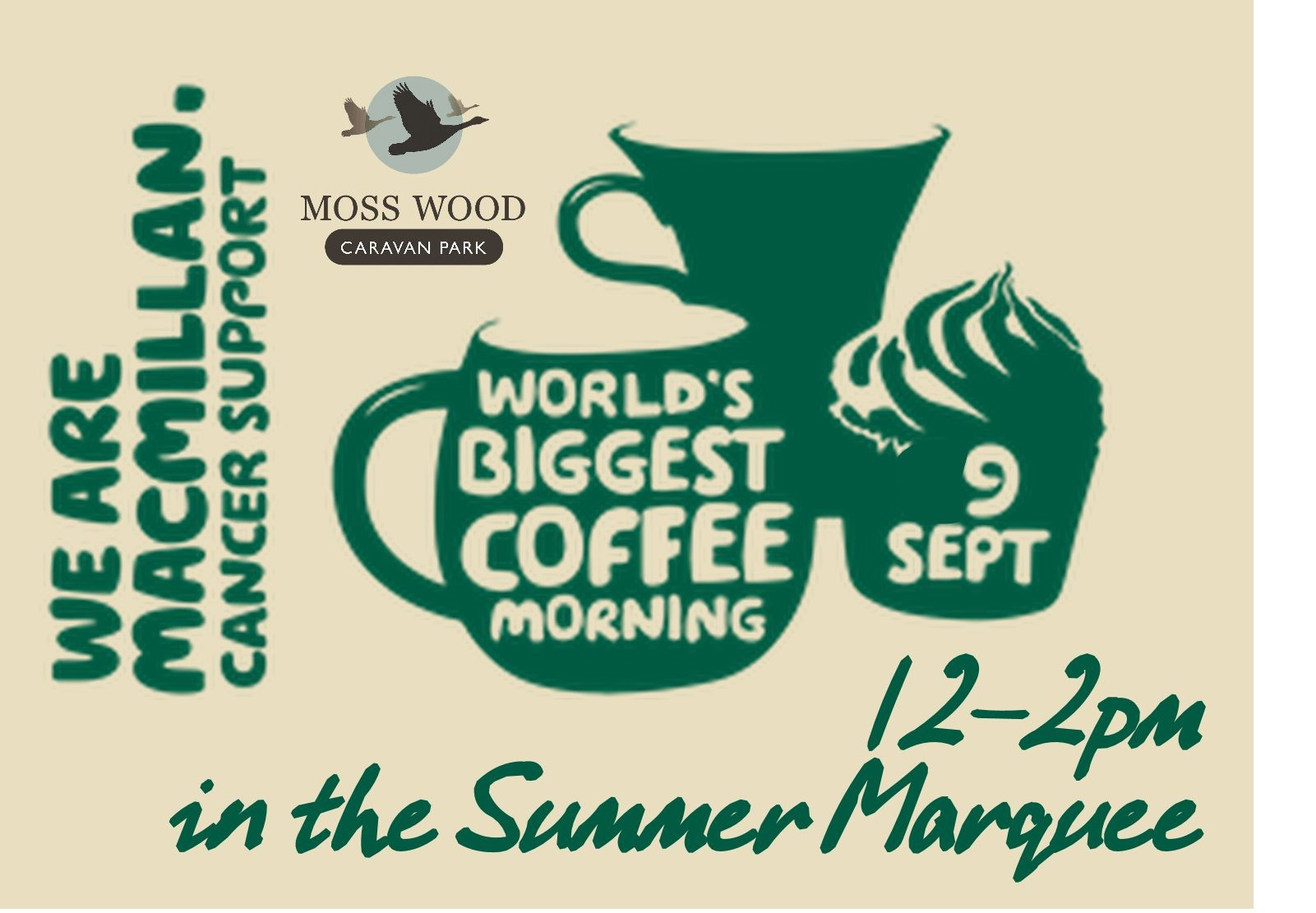 Moss Wood Macmillan Coffee Morning Sept 2017